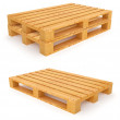 Wooden pallets isolated on white background — Stock Photo