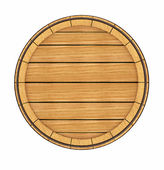 Wooden barrel top view — Stock Photo