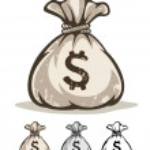 Full sack with money dollars — Stock Vector #45968113