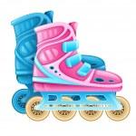 Roller skates for rolling sport — Stock Vector #46210555