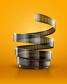 Spiral of cinematography film tape — Stock Vector