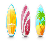 Surfboards for surfing — 图库矢量图片