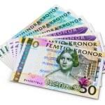 Постер, плакат: Stack of 100 50 and 20 swedish krona banknotes