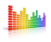Rainbow graphic equalizer — Stock Photo