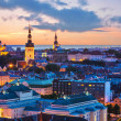 Evening scenery of Tallinn, Estonia - Stock Photo