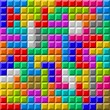 Colorful Tetris board background - Stock Vector