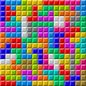Colorful Tetris board background — Stock Vector