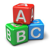 ABC color cubes — Stock Photo