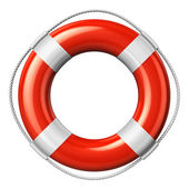Red lifesaver belt — Stock Photo