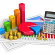 Stock Photo: Financial business analytics concept