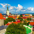 Foto Stock: Panorama of Tallinn, Estonia