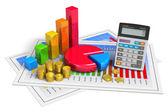 Concept analytique des affaires financières — Photo