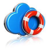 Conceito de segurança de armazenamento e computação em nuvem — Foto Stock