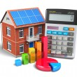Stock Photo: Home finances concept