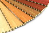 Conjunto de tábuas de madeira de construção laminada — Foto Stock
