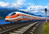 High speed train — Stockfoto