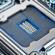CPU socket on motherboard — Stock Photo