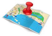 Gps navigace, cestování a turistika koncepce — Stock fotografie