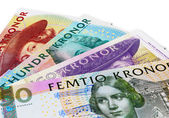 Swedish krona banknotes — Stock Photo
