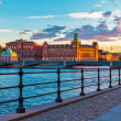 Scenic sunset in Stockholm, Sweden - Stock Photo