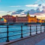 Scenic sunset in Stockholm, Sweden — Stock Photo