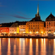 Night scenery of the Old Town in Stockholm, Sweden — Stock Photo #14604527