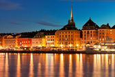 Night scenery of the Old Town in Stockholm, Sweden — Stock fotografie