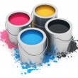 Stock Photo: Cans with CMYK paint