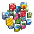 Colorful icons with pictures - Stock Photo