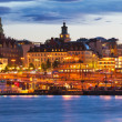 Evening scenery of Stockhom, Sweden — Stock Photo #16244647