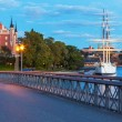 Evening scenery of Stockhom, Sweden — Stock Photo