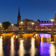 Night scenery of the Old Town in Stockholm, Sweden — Stock Photo #16299321