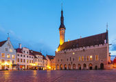 Town Hall Square in Tallinn, Estonia — Stock Photo