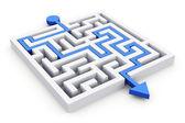 Path across labyrinth — Stock Photo