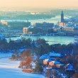 Winter aerial scenery of Stockholm, Sweden — Stock Photo