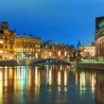 Winter night scenery of Stockholm, Sweden — Stock Photo #17666817