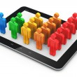 Social networking and client management concept — Stock Photo