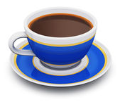 Blue porcelain coffee cup — Stock Photo