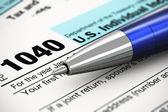 Daňové formuláře koncept — Stock fotografie