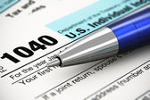 Tax form concept — Stock Photo
