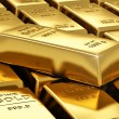 Foto de Stock  : Stacks of gold bars
