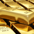 Stacks of gold bars — Foto Stock