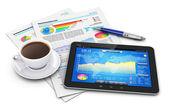 Mobiliteit, business en financiën concept — Stockfoto