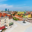 Stock Photo: Aerial panoramof Warsaw, Poland