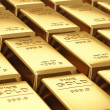 Stacks of gold bars — Stockfoto #19492611