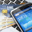 Stock Photo: Mobile banking and finance concept