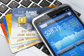 Mobile banking and finance concept — Foto Stock
