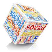 社会媒体的概念 — 图库照片