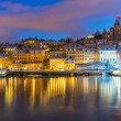 Night scenery of Stockholm, Sweden — Stock Photo