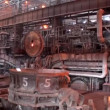 Panorama of the open-hearth workshop of metallurgical plant — Stock Video #20352347